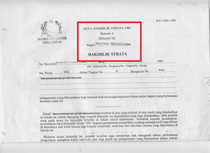 strata title in malaysia Laws of malaysia act a1450 strata titles (amendment) act 2013 an act to amend the strata titles act 1985 [ ] enacted by the parliament of malaysia as follows: short title and commencement 1 (1) this act may be cited as the strata titles (amendment) act 2013.